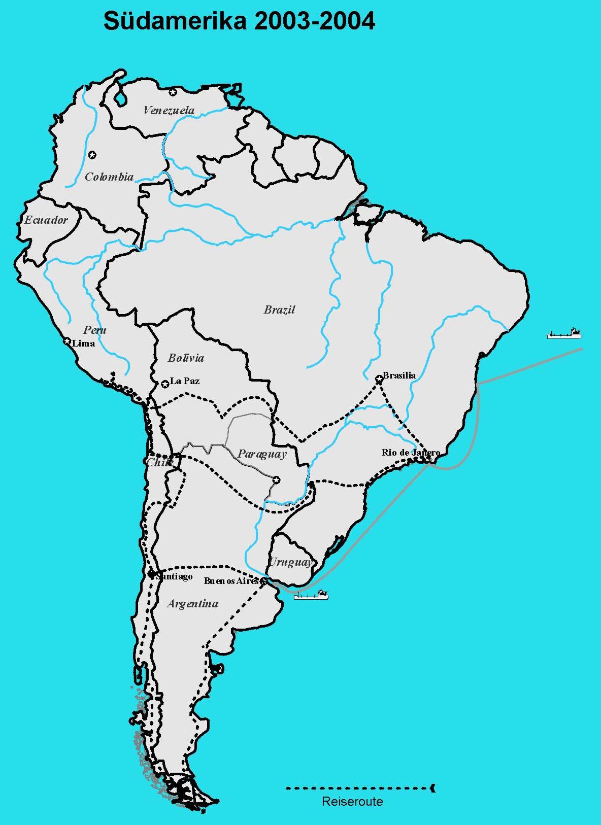 sudamerika karte lander